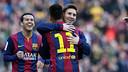Messi and Neymar amongst the goals again / MIGUEL RUIZ - FCB