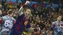 Rutenka celebrates a goal against Kolding. / VÍCTOR SALGADO-FCB