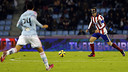 Diego Godin's mask couldn't protect Atlético from defeat at Celta / clubatleticodemadrid.com