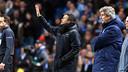 Luis Enrique was more than happy with the result in Manchester / MIGUEL RUIZ - FCB