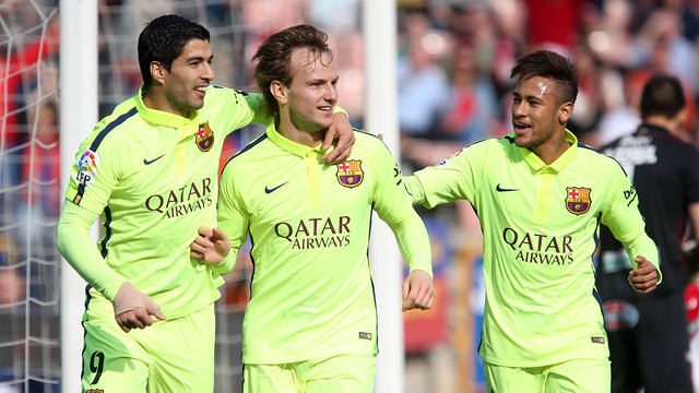 Suárez, Rakitic i Neymar / MIGUEL RUIZ-FCB