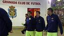 Suárez, Messi y Neymar, en Los Cármenes / MIGUEL RUIZ-FCB