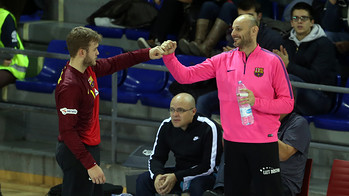 Saric i Pérez de Vargas, porters del Barça d'handbol / FOTO: Miguel Ruiz-ARXIU FCB