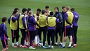 The players trained on Monday / MIGUEL RUIZ-FCB.