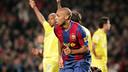 Thierry Henry celebrating his goal against Villarreal in 2008 / MIGUEL RUIZ-FCB