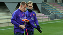 Ter Stegen and Rakitic were both involved in today's session / FCB ARCHIVE