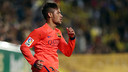 Neymar celebrates his second goal against Villarreal / MIGUEL RUIZ - FCB