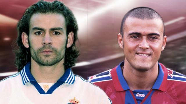 Photomontage of Luis Enrique and Paco Jémez
