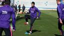 Luís Suárez a pris part à l'entraînement en ce 6 mars 2015. / MIGUEL RUIZ - FCB