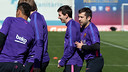 Messi and Alba in training / FCB ARCHIVE