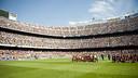 Camp Nou was a packed house on a sunny Sunday. / VÍCTOR SALGADO - FCB
