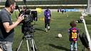 Leo Messi, sur le tournage / FOTO: Dani Aznar