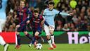 Leo Messi à la lutte avec David Silva / MIGUEL RUIZ - FCB