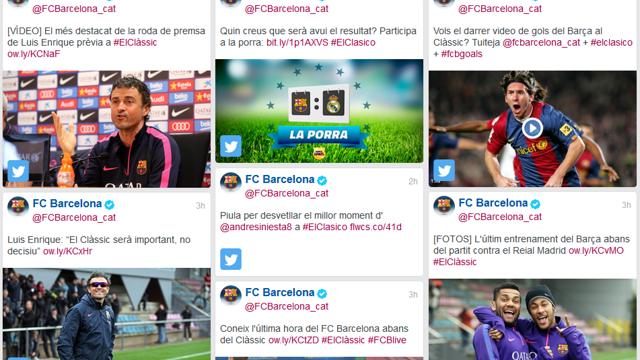 The Social Media Hub of El Clásico