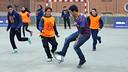 Deco taking part in a 'FutbolNet' session / MIGUEL RUIZ - FCB