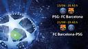 PSG - FC Barcelona, Champions League quarter finals tie