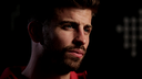 Piqué, pendant l'interview