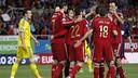 La sélection espagnole célèbre le but de Morata / FIFA.COM