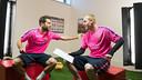 Alba i Mathieu, durant el seu cara a cara / FCB