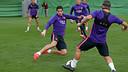 Luis Suárez, à l'entraînement / MIGUEL RUIZ-FCB