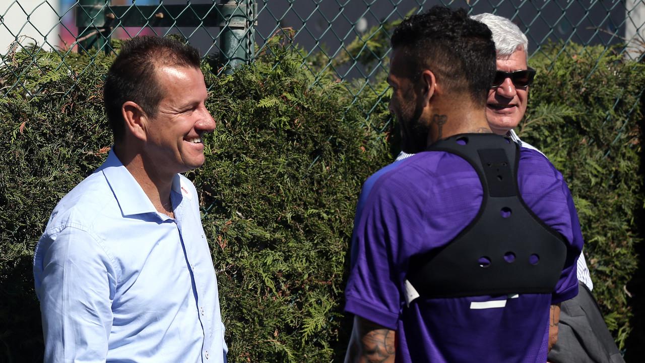 Dunga, amb Alves / MIGUEL RUIZ-FCB