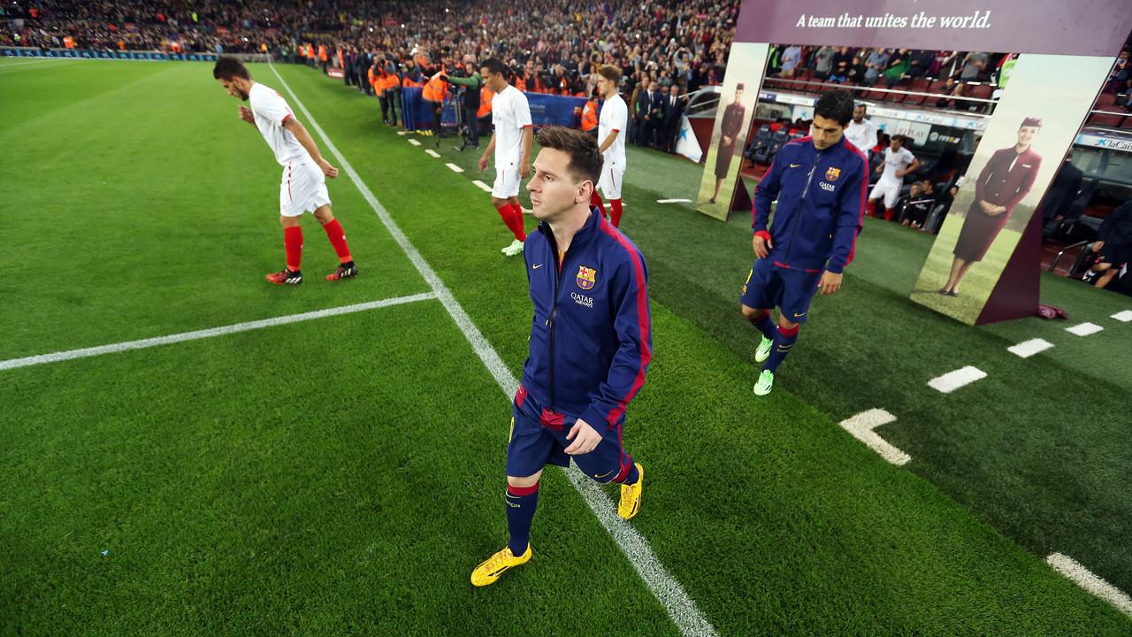 Messi, abans del partit amb el Sevilla / MIGUEL RUIZ-FCB