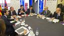 Josep Maria Bartomeu and Ramon Pont attended the meeting with Gérard Bocquenet and Essa Al-Mannai / VÍCTOR SALGADO - FCB