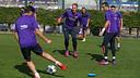 Entrenamiento del Barça en el Campo 2 de la Ciudad Deportiva / MIGUEL RUIZ - FCB