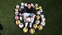 Leo Messi with his hat tricks / MIGUEL RUIZ - FCB
