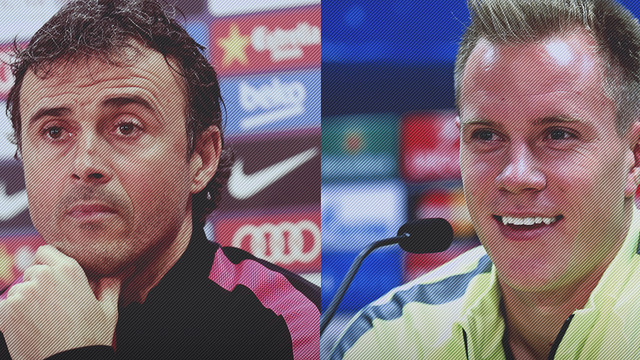 Luis Enrique and Ter Stegen / FCB