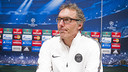Laurent Blanc a press conference at Camp Nou / MIGUEL RUIZ - FCB