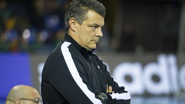 Pascual,concentrado en el partido del sábado / FOTO: VÍCTOR SALGADO- ARCHIVO FCB