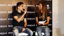 Marc Bartra ha atendido a los medios durante el acto de Rodilla / MIGUEL RUIZ - FCB