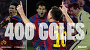 Leo Messi a inscrit 400 buts sous le maillot du FC Barcelone / FCB