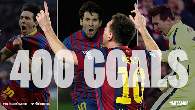 Leo Messi makes history with his 400th goal for Barcelona / FCB