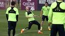 Iniesta, pendant un entrainement / Miguel Ruiz FCB