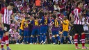FC Barcelona celebrate scoring against Athletic in the final in 2012 / FCB Achive