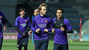 Ivan Rakitic trains with the group at the Ciutat Esportiva in Sant Joan Despí. / MIGUEL RUIZ-FCB