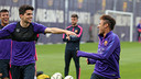 Bartra and Neymar in training on Wednesday morning / MIGUEL RUIZ-FCB