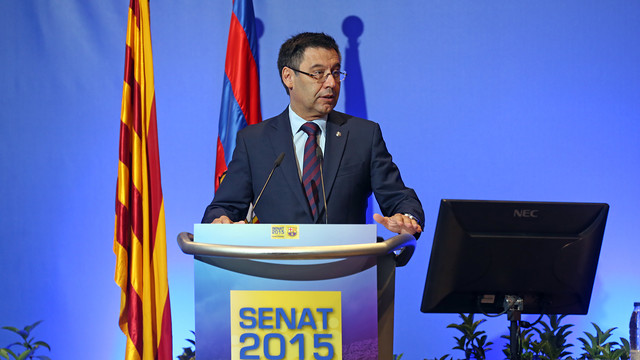 Bartomeu addresses the FCB Senate / MIGUEL RUIZ - FCB