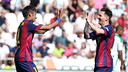 Leo Messi et Neymar après un but / MIGUEL RUIZ - FCB