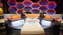Bartomeu was chatting to presenter Bernat Soler / ALEIX TELLO-FCB