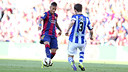 Neymar en action contre la Real Sociedad / MIGUEL RUIZ - FCB
