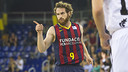 Marcelinho Huertas scored nine points against Bilbao on Saturday. / VICTOR SALGADO - FCB