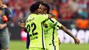 Alves and Neymar Jr celebrate qualification for the final / MIGUEL RUIZ-FCB