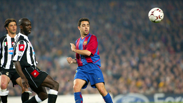 Xavi and former FCB man Thuram in the last meeting with Juventus / FCB