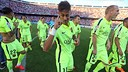 Neymar, celebrando sua 1º Liga com o Barça