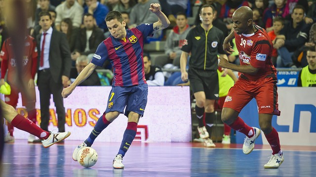 El Barça ganó esta temporada a ElPozo Murcia en el Palau con un gol de Dyego