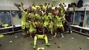 Euphoria in the dressing room at the Calderón / MIGUEL RUIZ-FCB