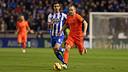 Iniesta en el partit de la primera volta contra el Depor a Riazor / MIGUEL RUIZ - FCB